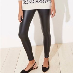 Loft by Ann Taylor petite leather leggings